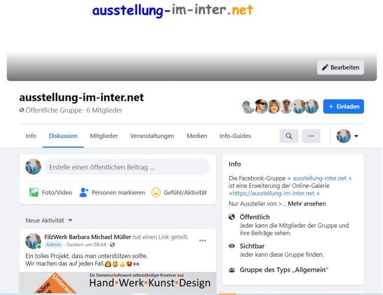 ausstellung-im-inter.net ist nun auch bei Facebook
